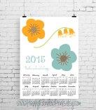6. Floral wall calendar