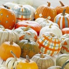 4. Painted pumpkins