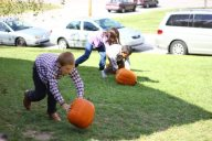 2. Pumpkin rolling relay