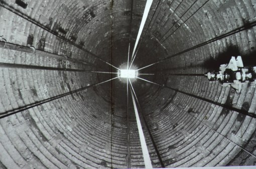Looking up the shaft