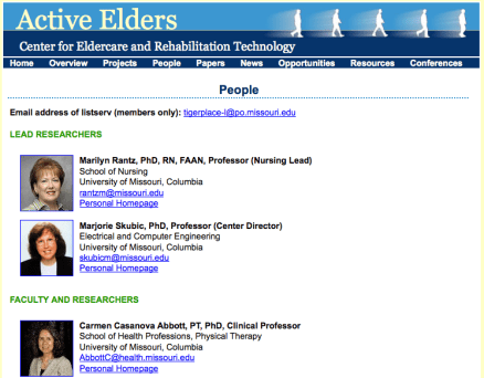 Eldertech People page