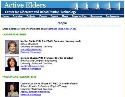 Eldertech People page