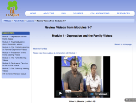 Moodle Lesson to organize Family Talk videos