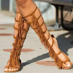 Gladiator-Fringe-Sandal