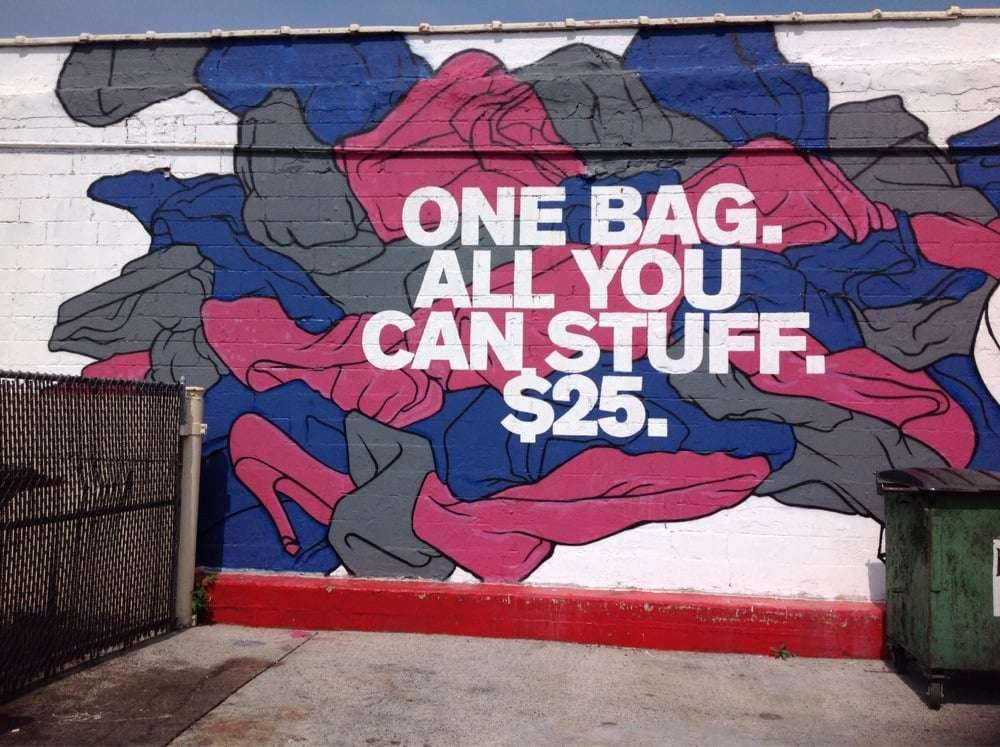 "Housing Works ""Buy The Bag"" Thrift (NYC): 1 Bag of Clothes = $25!"