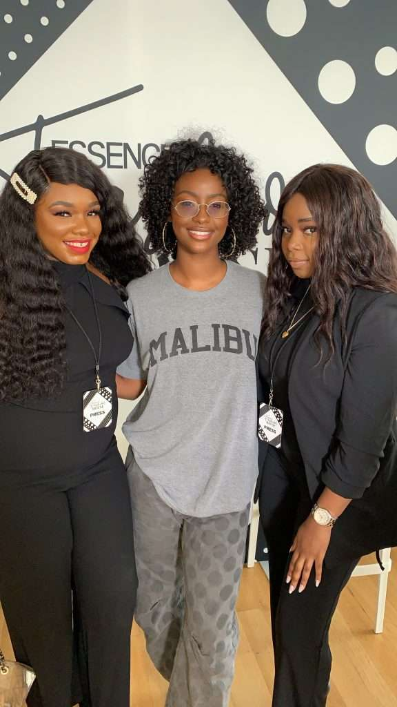 Essence Fashion House pictured Justine Skye Tatyana Yomary