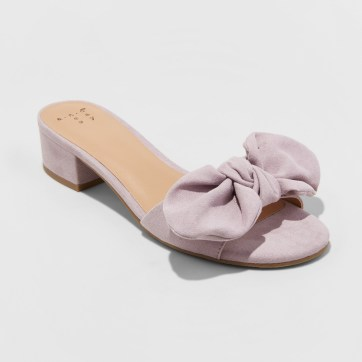 Hyleta Knotted Bow Heeled Mules