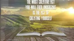 Act of creating yourself