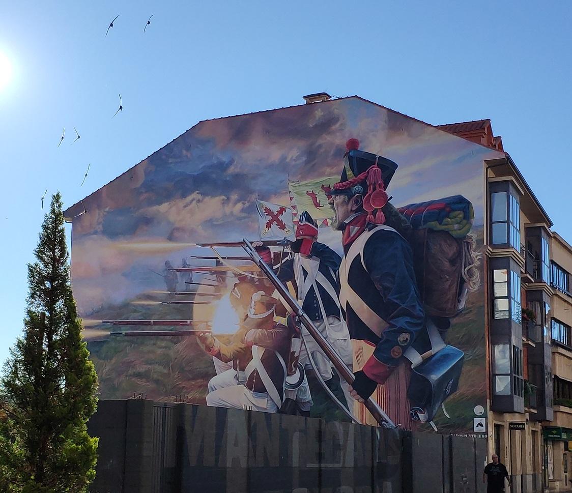 アストルガの半島戦争の壁画。-スペインの歴史