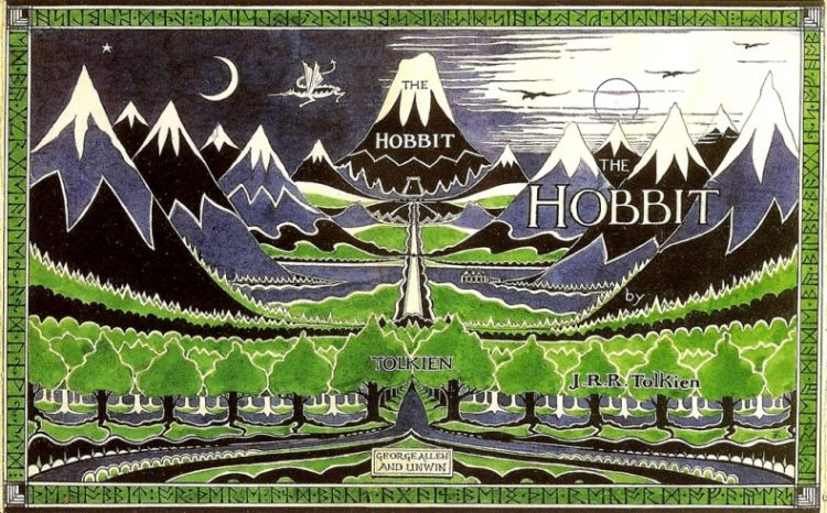 The original dust cover for the Hobbit