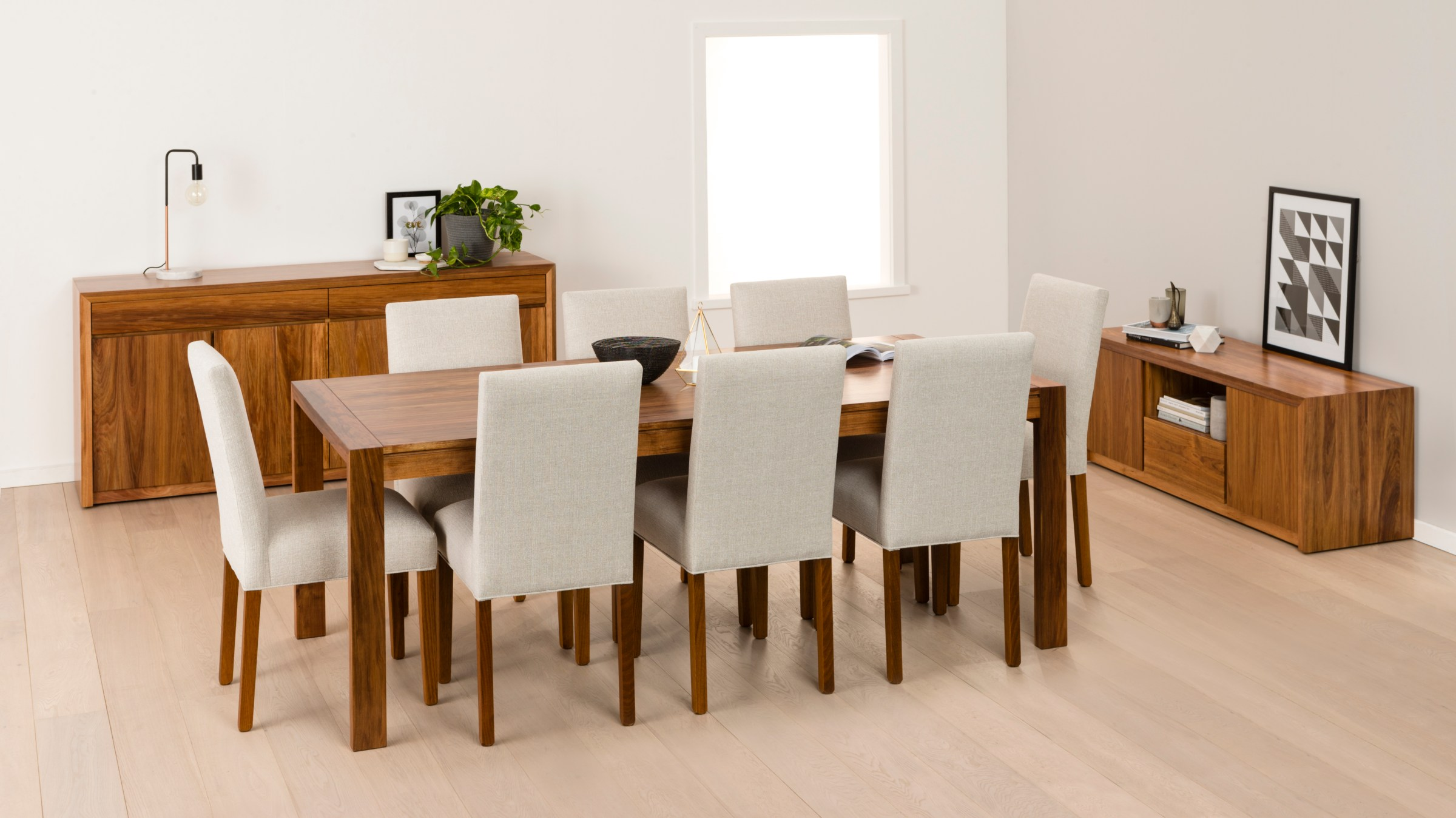 Photograph of Astra Furniture Aspley dining and occasional range crafted from solid Tasmanian Oak