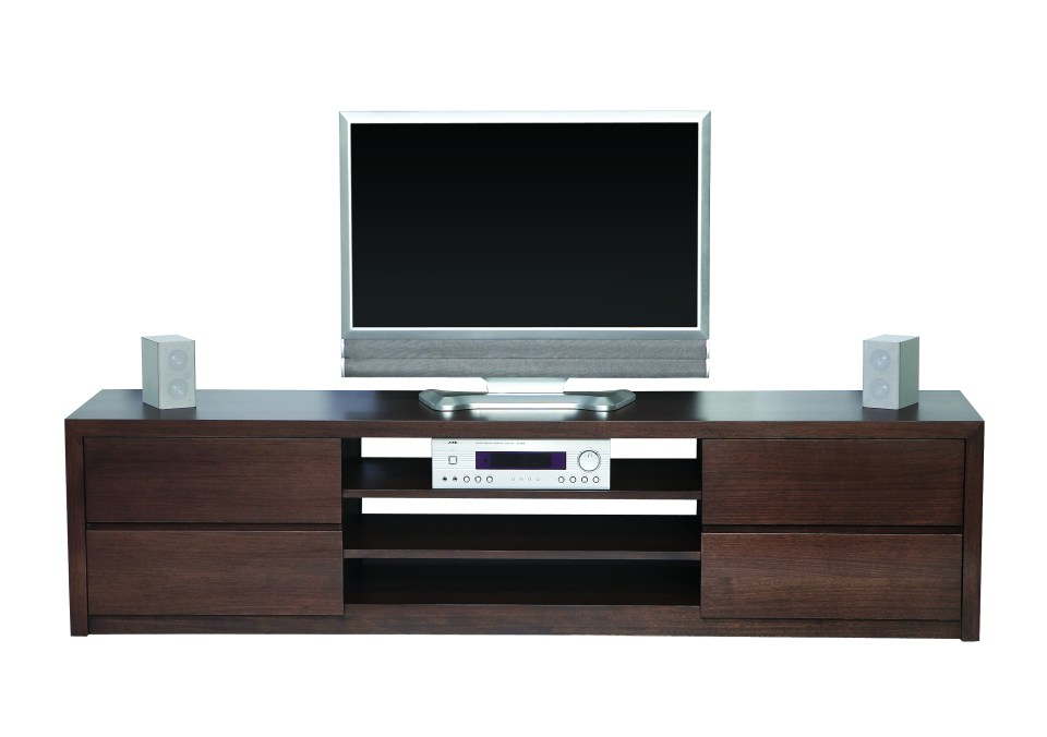 Capri four drawer entertainment unit