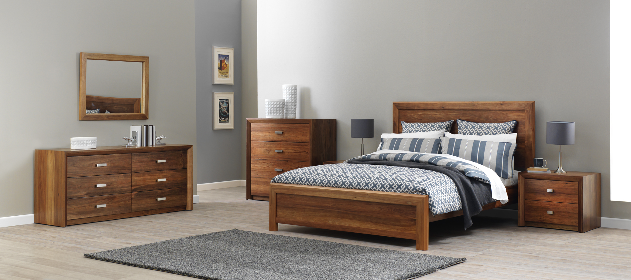 Photograph of Astra Furniture Cobar bedroom range crafted from solid Tasmanian Blackwood