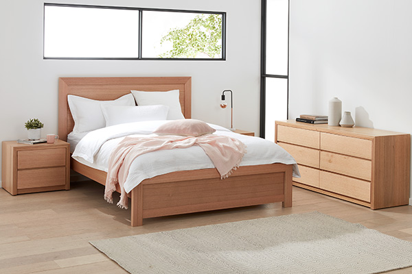 Sorrento Tasmanian Oak Bedroom Suite with Dresser by Astra Furniture