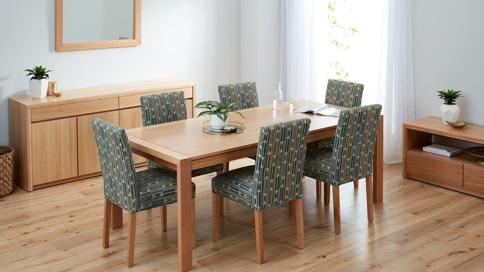 Capri Tasmanian Oak Dining Room Furniture by Astra Furniture