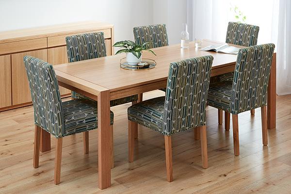 Capri Tasmanian Oak Upholstered Dining Chairs
