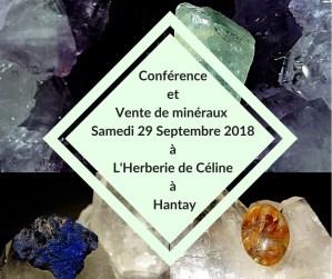 Conférence et vente de minéraux