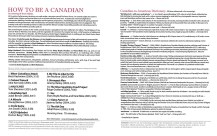 How To Be A Canadian notes & Canadian-to-American dictionary