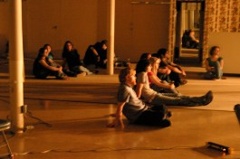 Quantum Leaps screening in an abandoned department store in Ruston, LA with Nomadic Nights