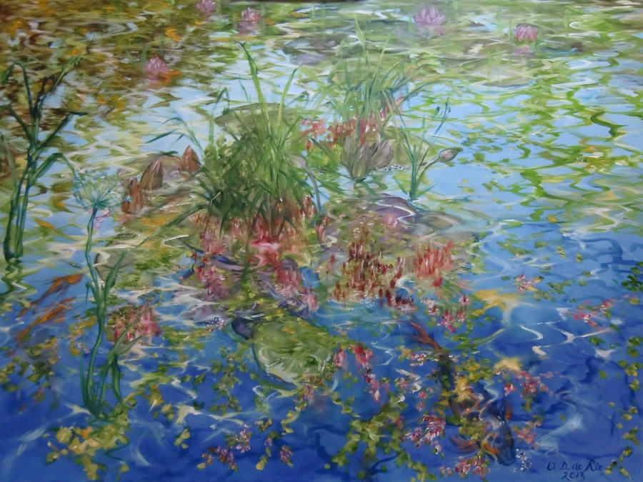 Summer At The Pond, oil on canvas, 60 cm x 80 cm, 2013