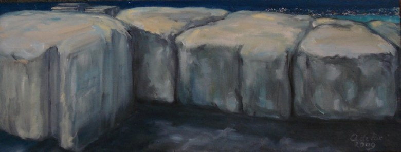 Bellevue à la Côte d'Azur, olieverf op canvas, 15 x 40 cm, 2009