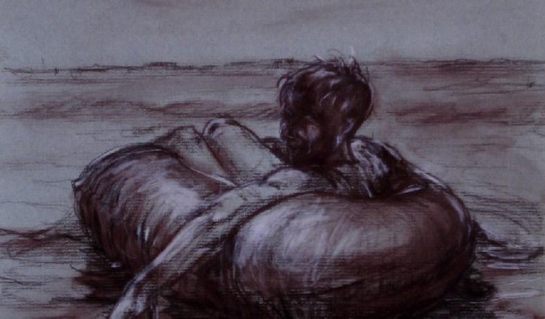 Dobberaar, pastel & conté op canvaspapier, 30 x 24 cm, 2009