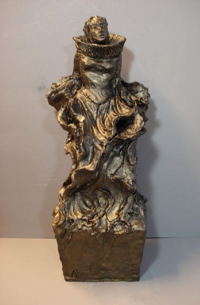 """From Imperium, (Naar ballet """"Imperium"""" van Krisztina de Chatel), keramiek (gemengde techniek), 40 x 25 x 20 cm, 2008"""