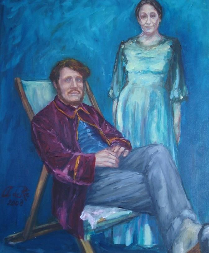 Rik en Nel Wouters, olieverf op canvas, 60 x 50 cm, 2008, VERKOCHT