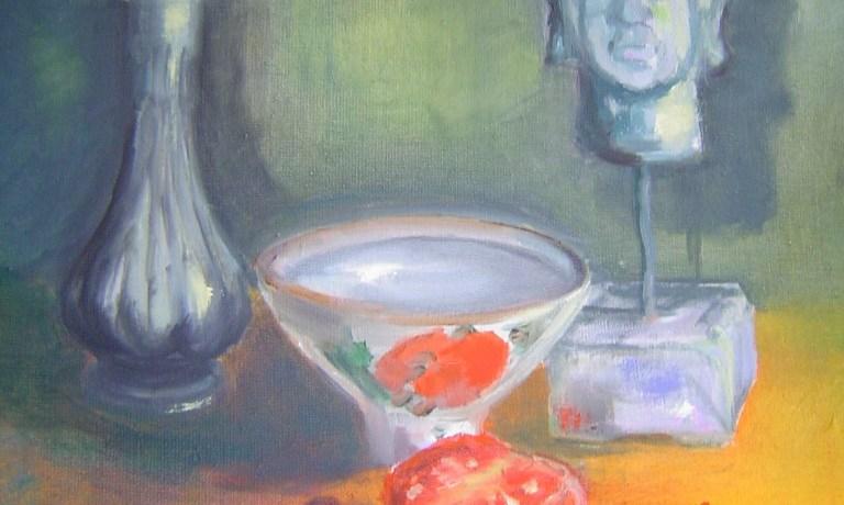 Boeddha, olieverf op canvas, 40 x 30 cm, 2004