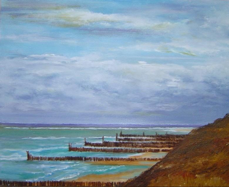 Vergezicht Zeeland, olieverf op canvas, 30 x 20 cm, 2004, VERKOCHT