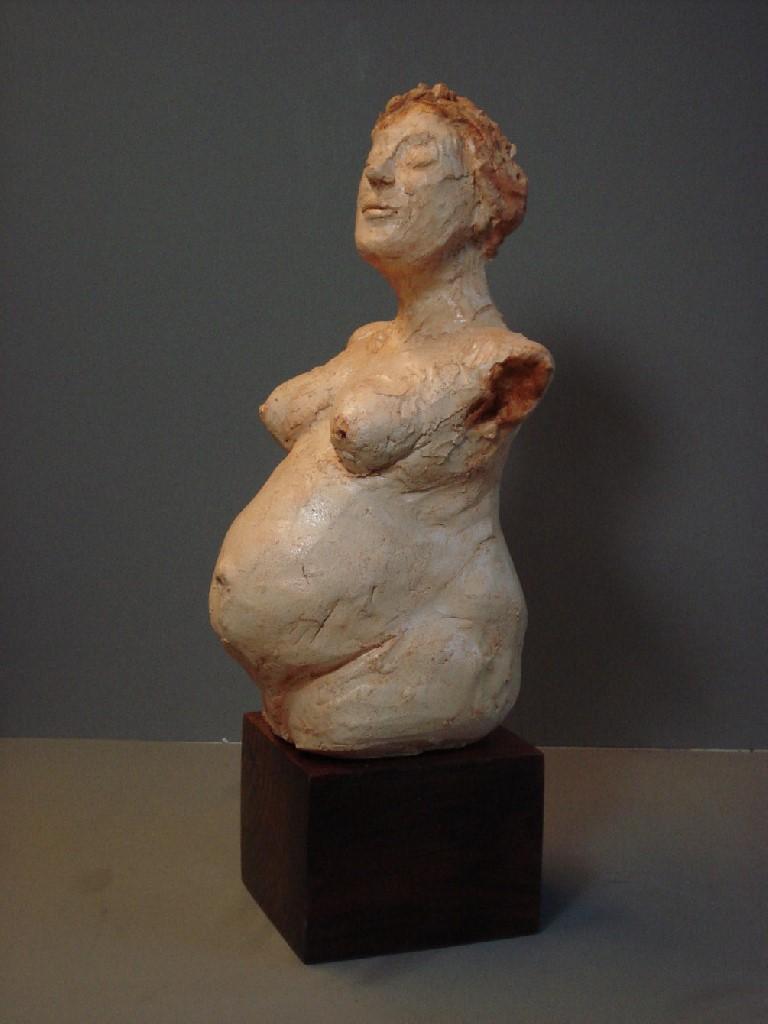 Vol Verwachting, keramiek, 20 x 8 x 10 cm, 2009
