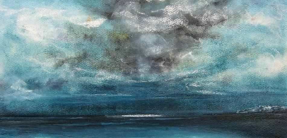 El Viento, pastel en conté op canvaspapier, 40 x 50 cm, 2011