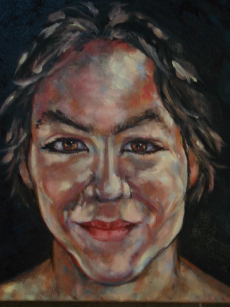 Jong II, olieverf op canvas, 50 x 40 cm, 2007
