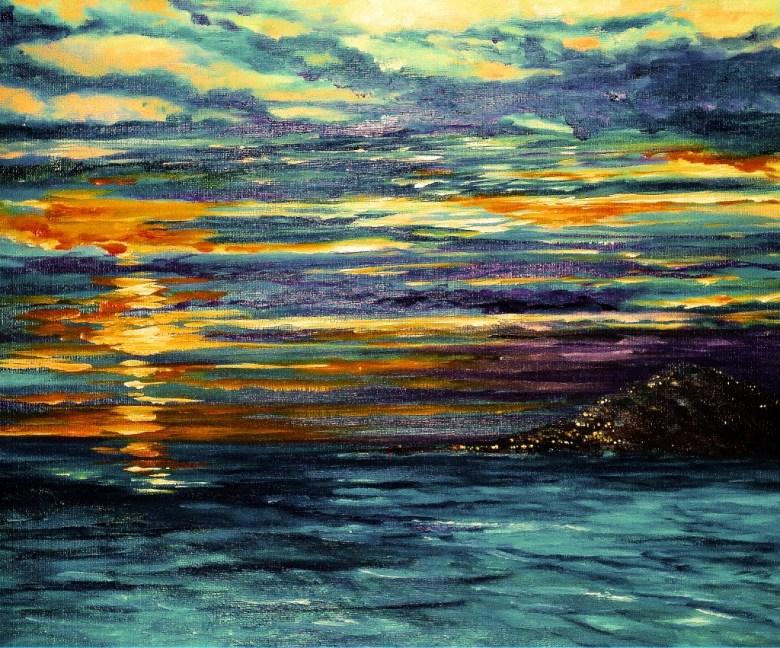 Luna de la Noche, olieverf op canvas, 40 x 50 cm, 2007, VERKOCHT