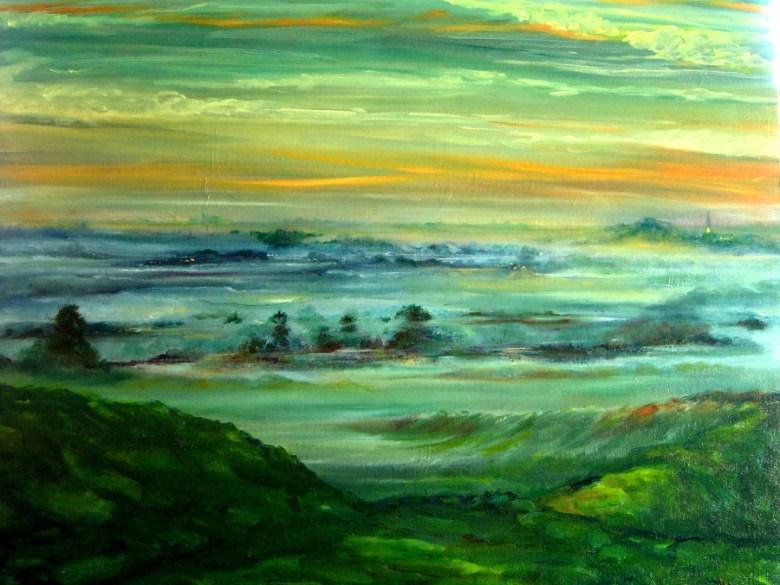 Nevel, olieverf op canvas, 50 x 60 cm, 2007, VERKOCHT