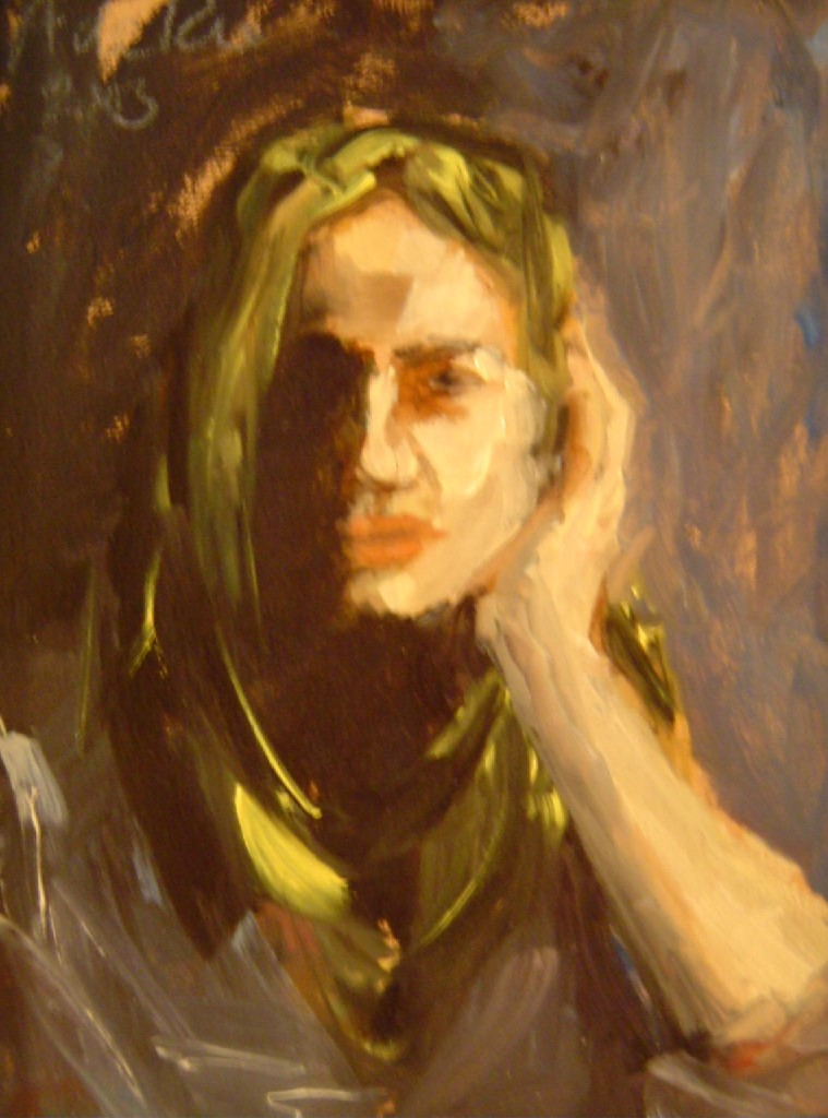Iris, olieverf op canvas, 25 x 15 cm, 2003