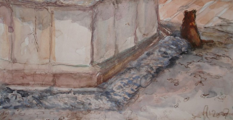 Old Town Marbella III, aquarel, 15 cm x 10 cm, 2007
