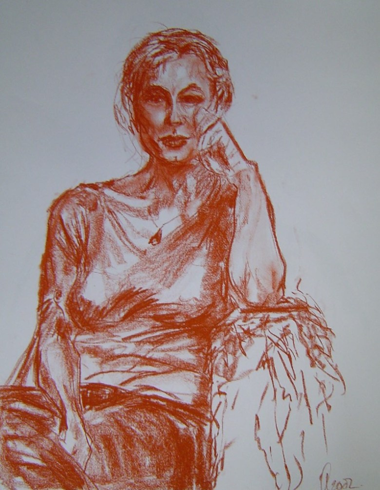 Minoes, Krijt, 60 x 50 cm, 2004, VERKOCHT