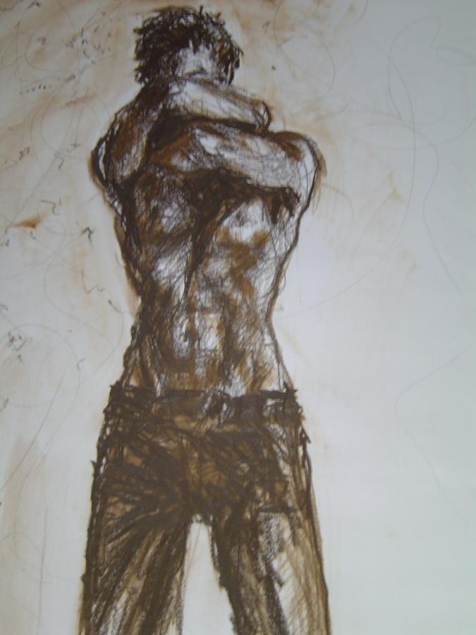 Thoughts on my mind, Gemengde techniek op papier, 36 x 48 cm, 2003