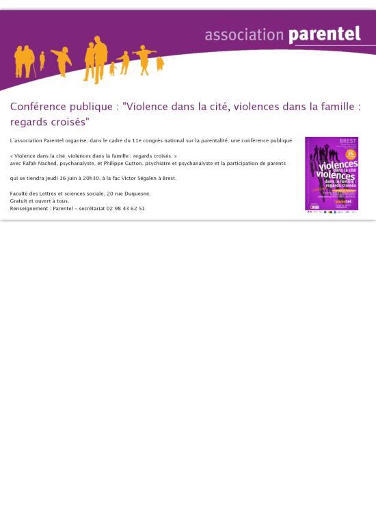 Conférence publique -  Violence dans la cité, violences dans la famille - regards croisés  - Associa-page-001