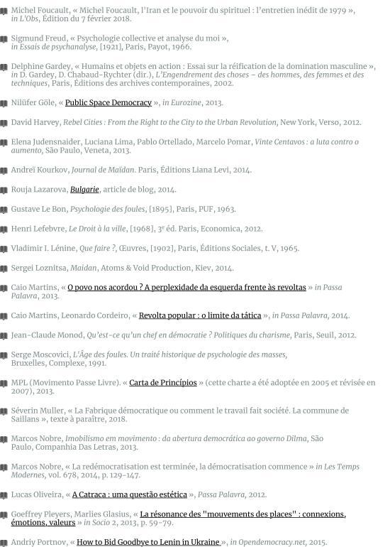 Les foules raisonnables. Notes sur les mouvements sans parti ni leader des années 2010 et leur rappo-page-018