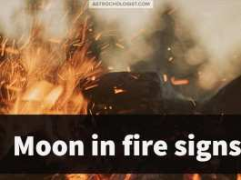 moon in the fire signs Aries Sagittarius Leo | Astrochologist.com