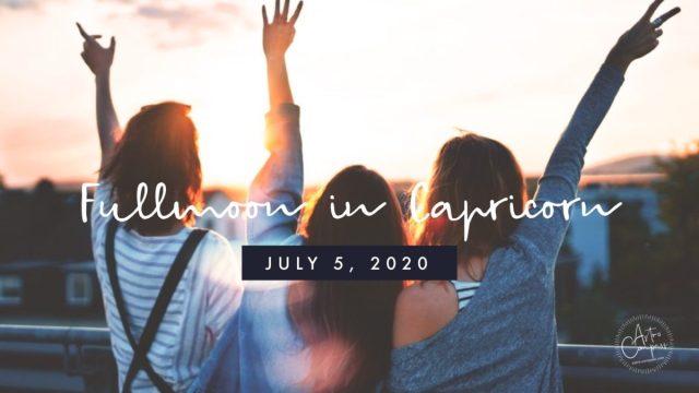 2020年7月5日半影月食の山羊座満月。抱える葛藤を払拭し変容の波に乗る