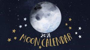 2021年新月と満月のカレンダー(無料)度数もわかる月の満ち欠けカレンダー。