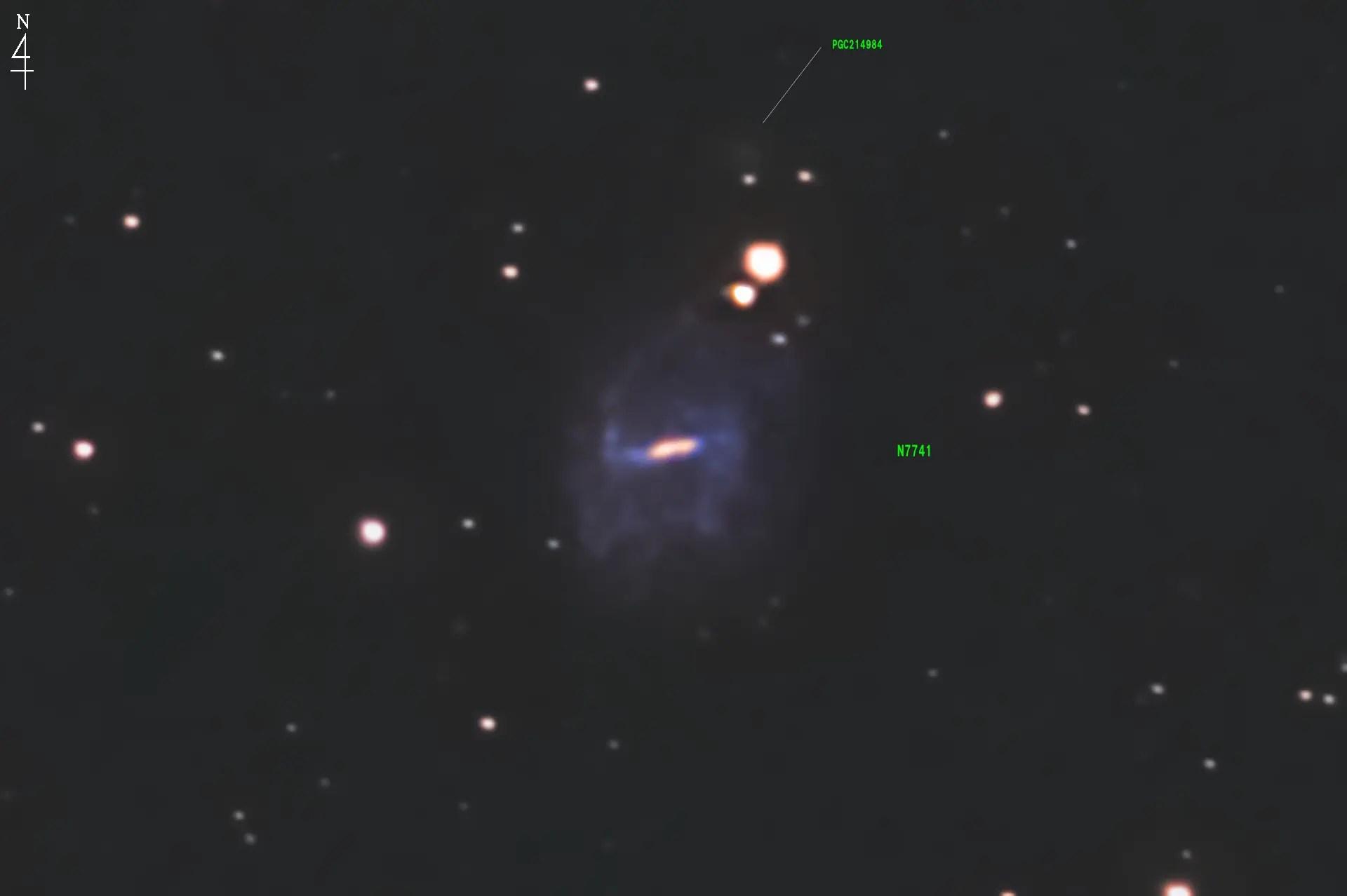NGC7741【撮影済みNGC天體の寫真一覧とデータや星図】