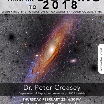 Cosmic Thursdays – Public Talk – Feb. 22
