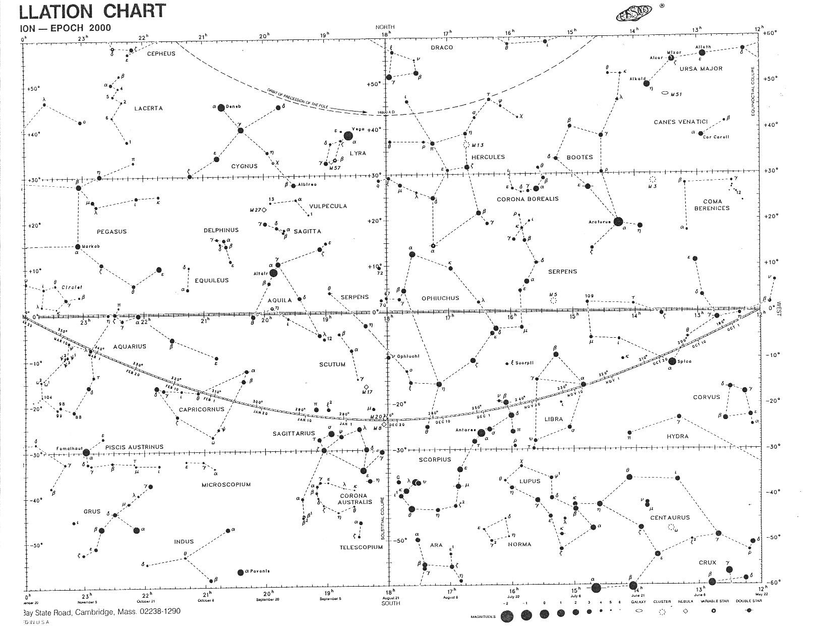 Backpacker All Sky Constellation Star Chart