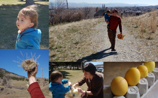 It was great to get to fill an Easter basket with little Bannack.