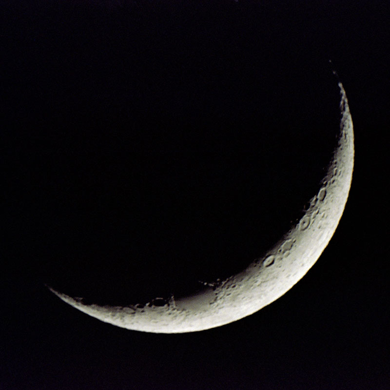 The waxing crescent - the start of the lunar cycle