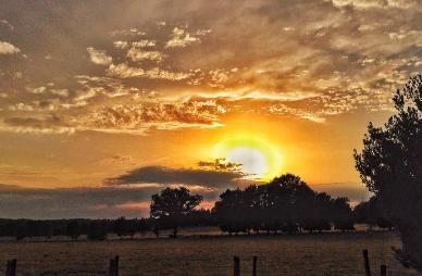 Superb sunset with Astrofarm astronomy holidays